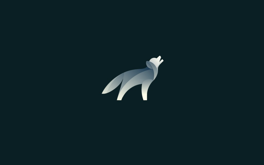 Wolf logo design by Tom Anders