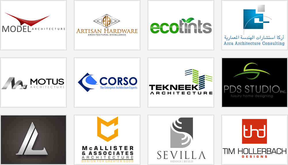 Basic types of architecture design company logos which you for Best names for interior designing firm