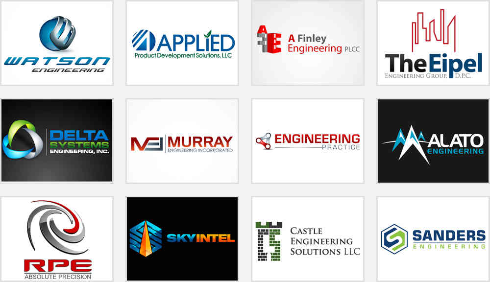 Gearing up for your engineering service logo design with 5 for Design and engineering companies