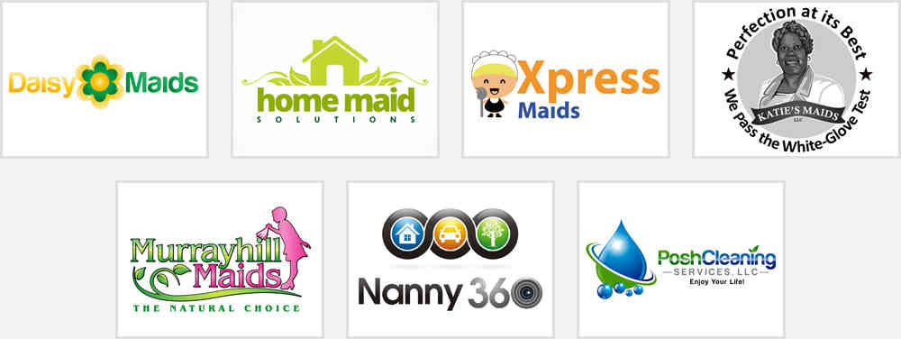 Secure Clients with Personalized Maid & Nanny Service Logo Designs