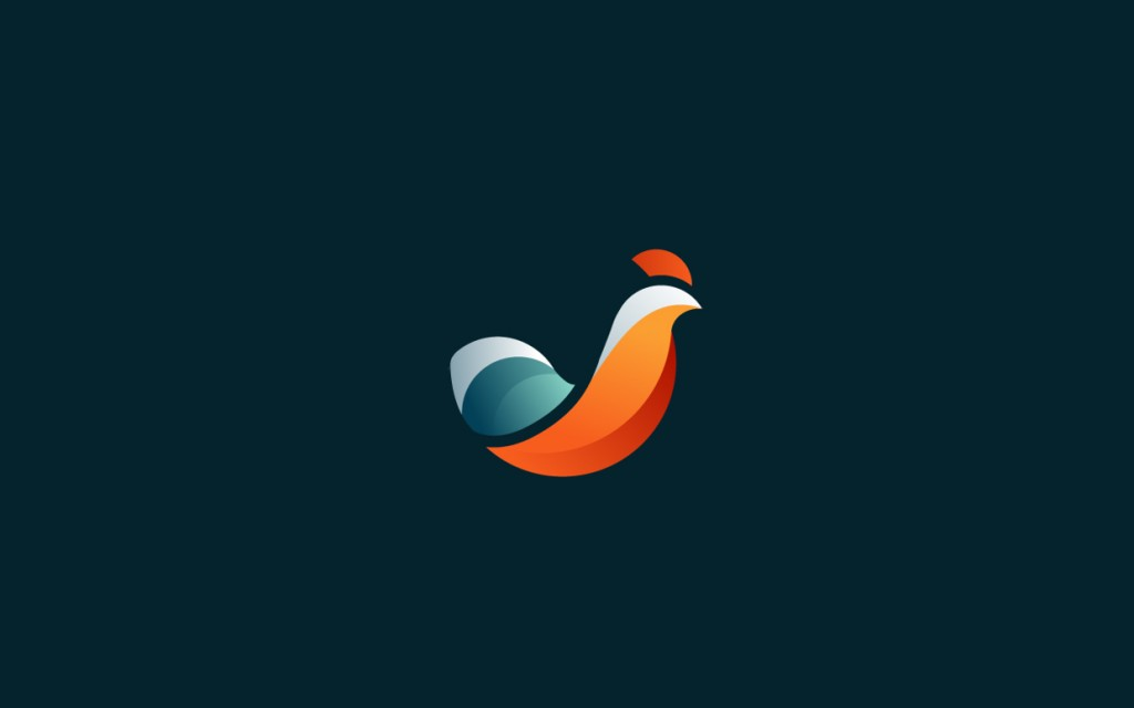 Bird logo design by Tom Anders