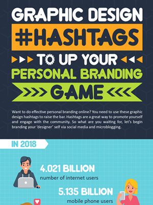 Graphic Design Hashtags To Up Your Personal Branding Game