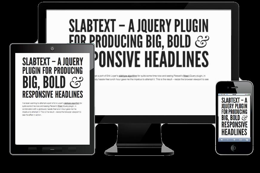 slab responsive typography