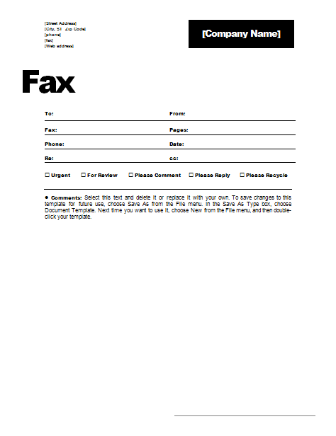 fax cover letter to fax phone re from pages date cc urgent for review