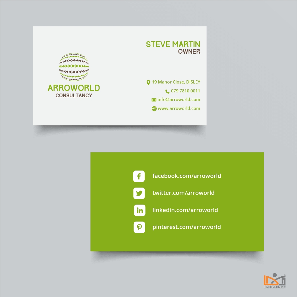 How to Design a Professional Business Card with Modern Layout