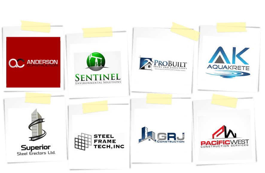 construction company logos from logo design contests