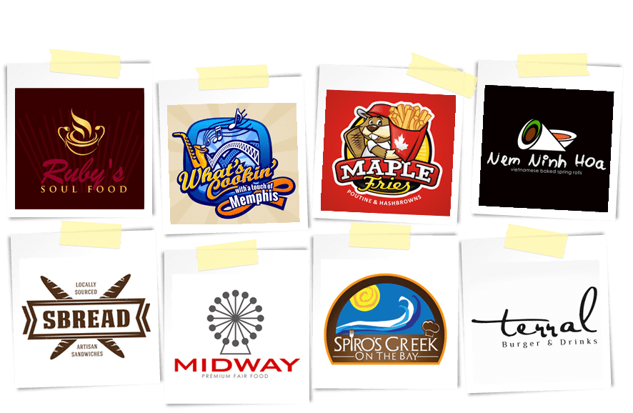 Food logos from logo design contests