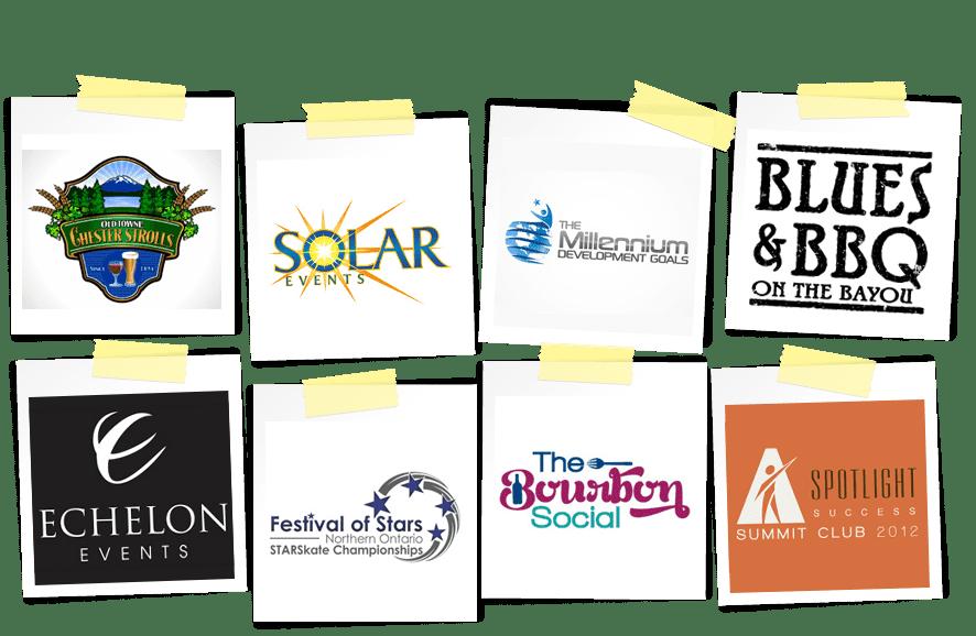 event marketing logos