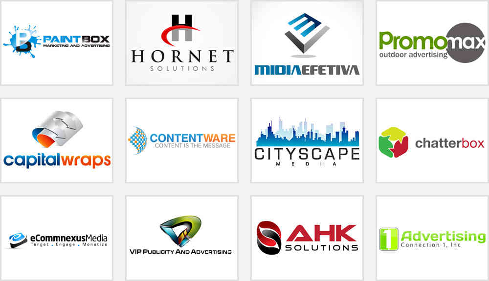 advertising or promotional company logos