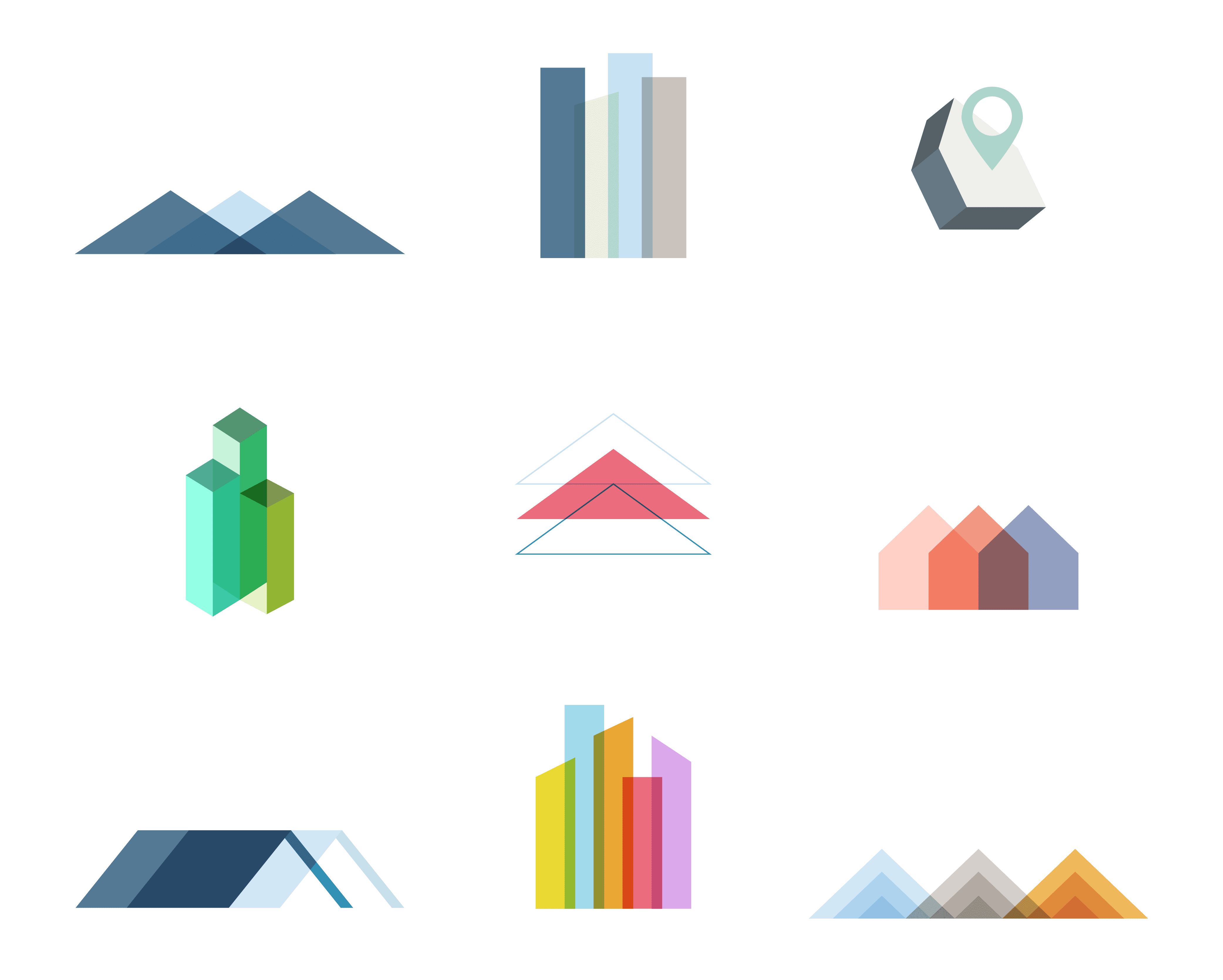 abstract architecture logo symbols