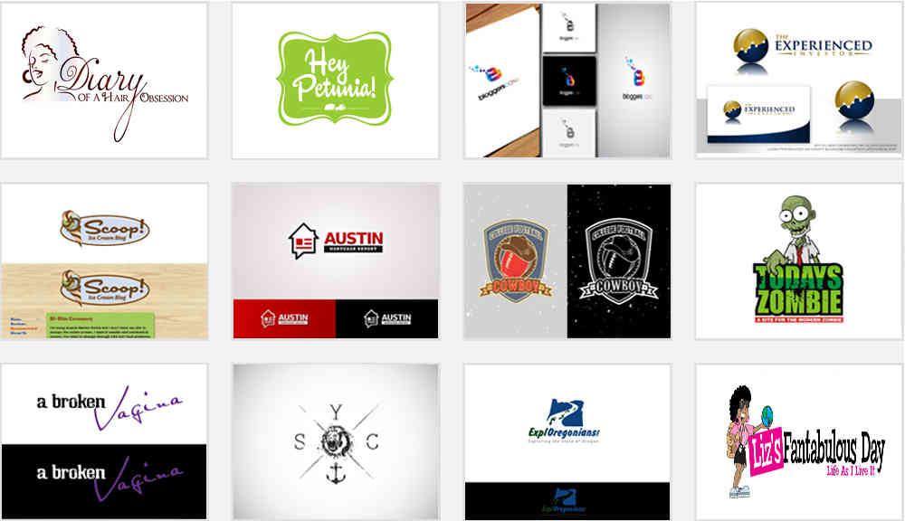 samples of blog logo design contests