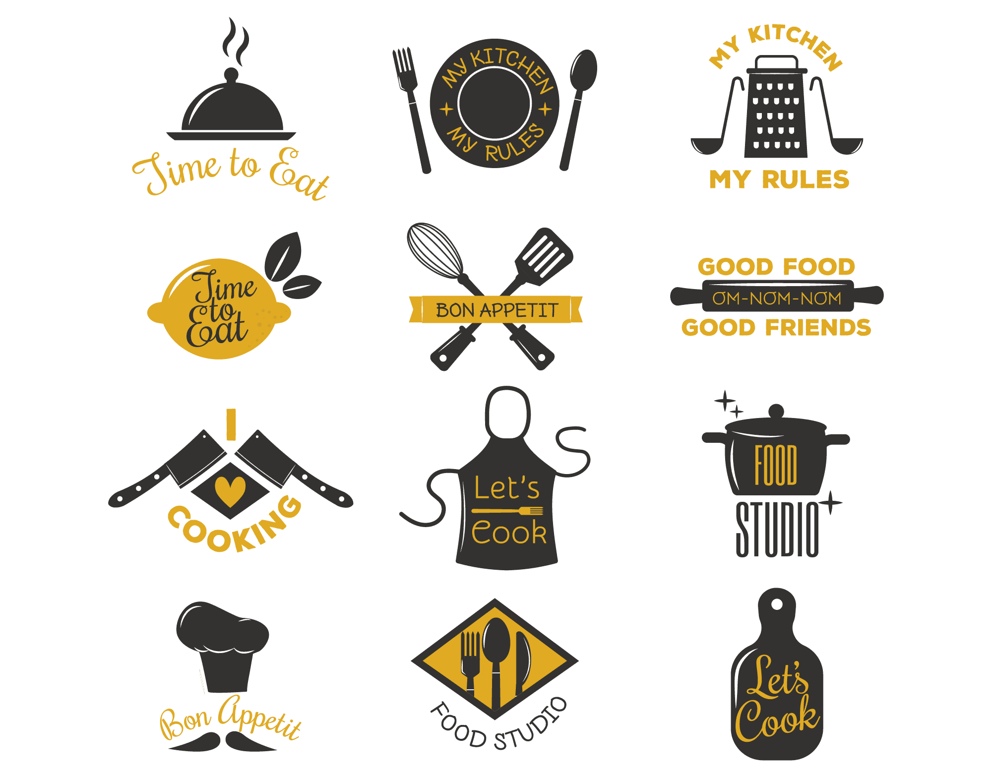 Cooking and Catering Logo Icons