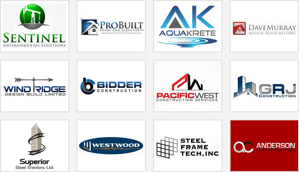 Construction company logos that boast great workmanship for Service design firms