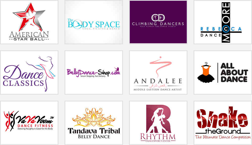 dance school logos why use vintage style fonts zillion designs