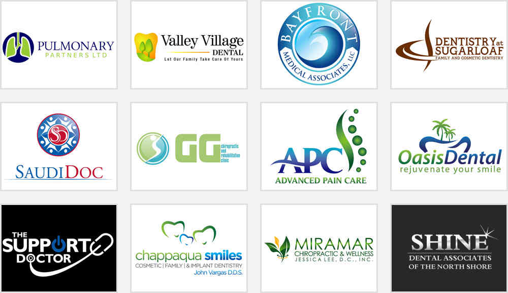 doctors office and dental clinic logos