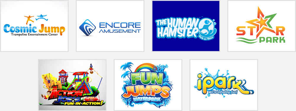 entertainment and amusement park logos