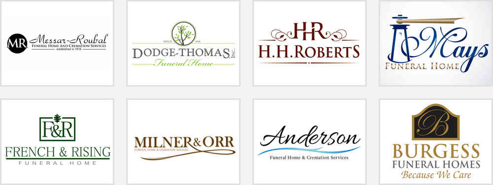 Funeral Home Service Logo Design Samples
