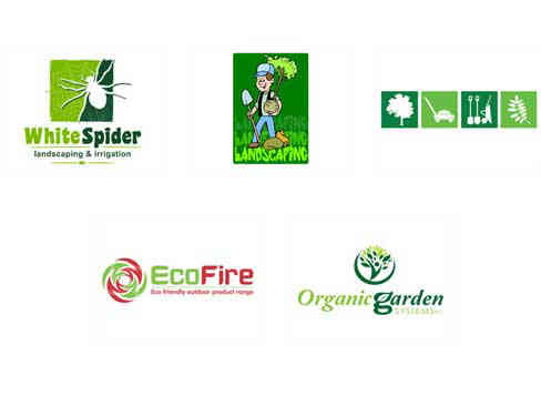 Gardening And Cleaning Service Logos