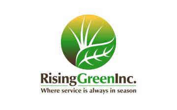 Leaves In Circle Form Gardening Logo