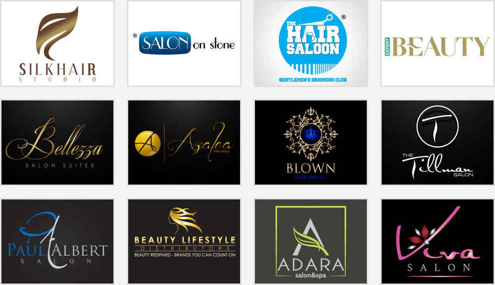 Hair Salon Nail Spa Logos