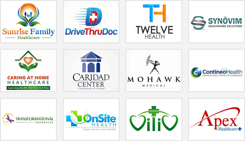 healthcare and hospital logo design contest samples