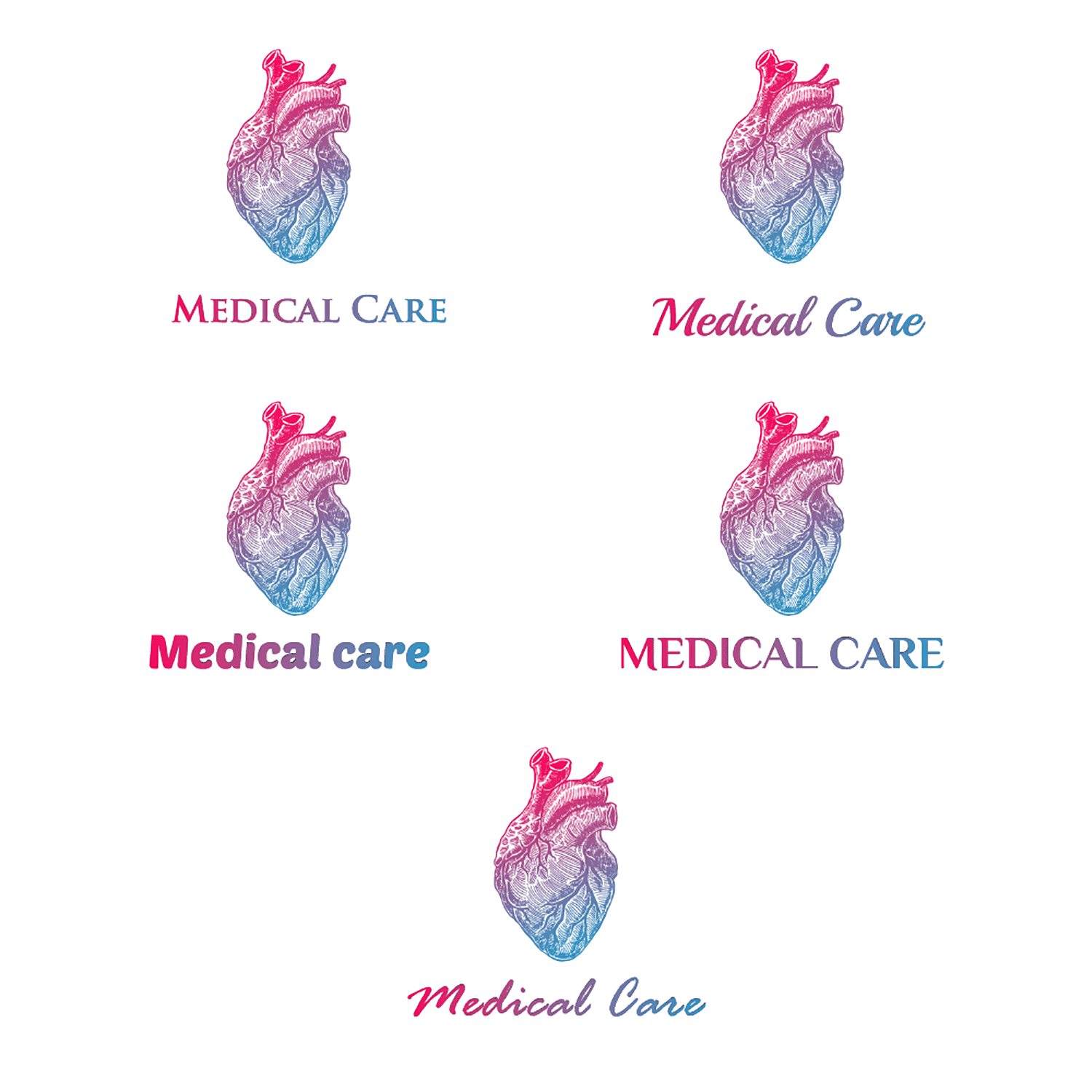 font types for hospital and healthcare logo design