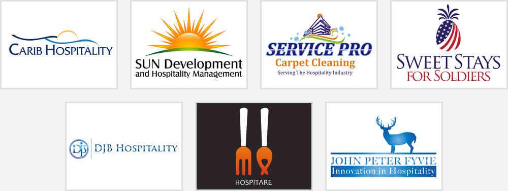 hosting and hospitality logo design inspirations