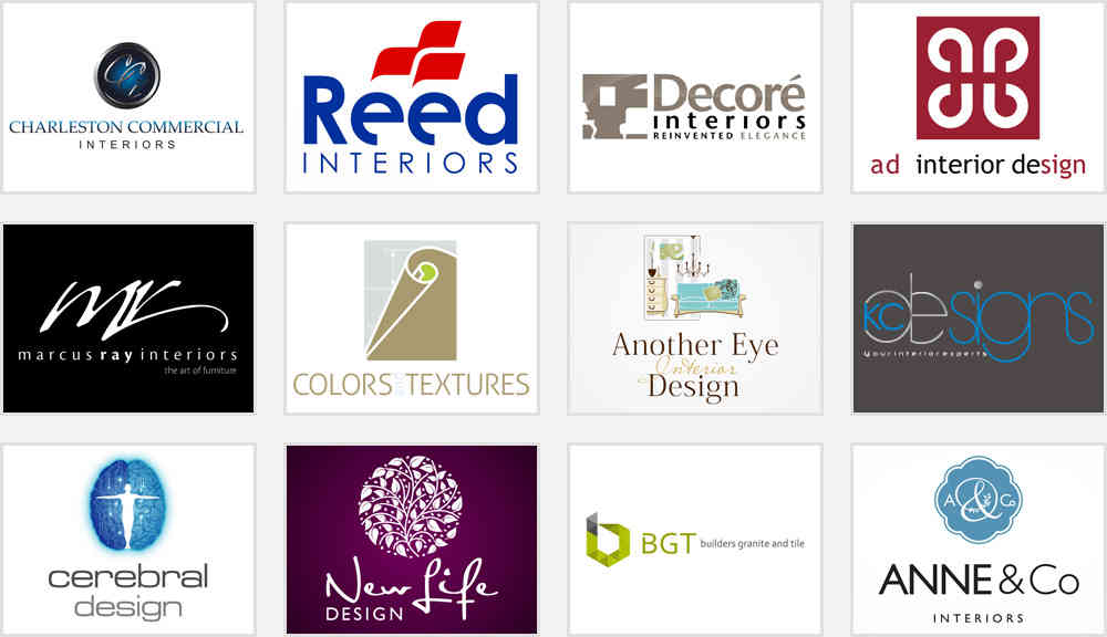 Secrets to make your interior design company logo stand out for Interior decoration company