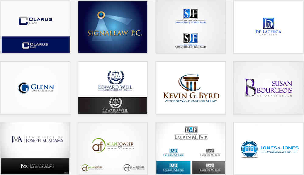 law firm and attorney logo inspirations