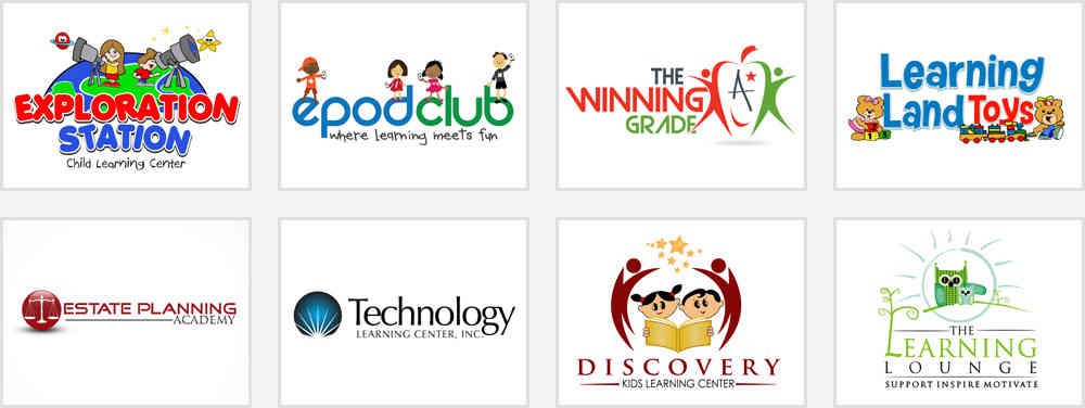 learning center logo design inspirations