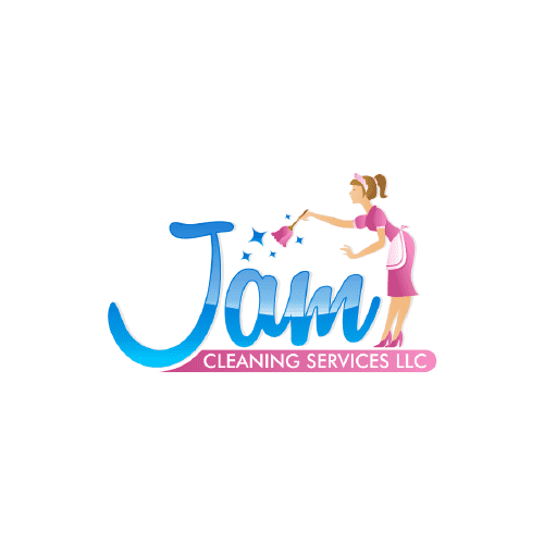 cleaning maid logo design