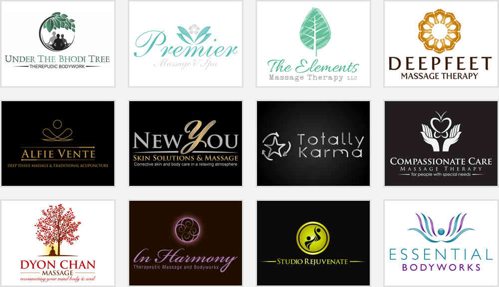 elegant massage and day spa logos for ideas