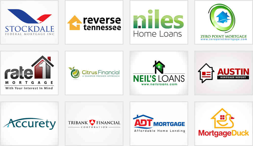 mortgage firm and home loan company logos ideas