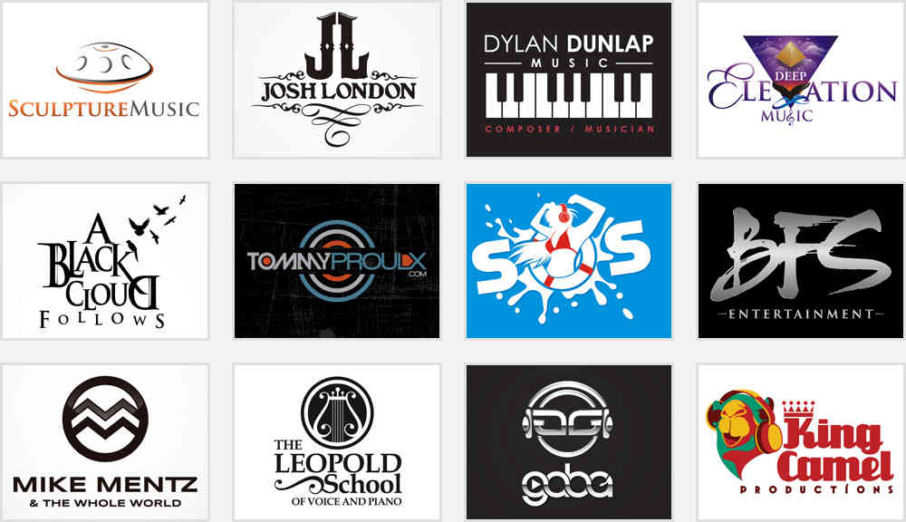 creative music band logo ideas