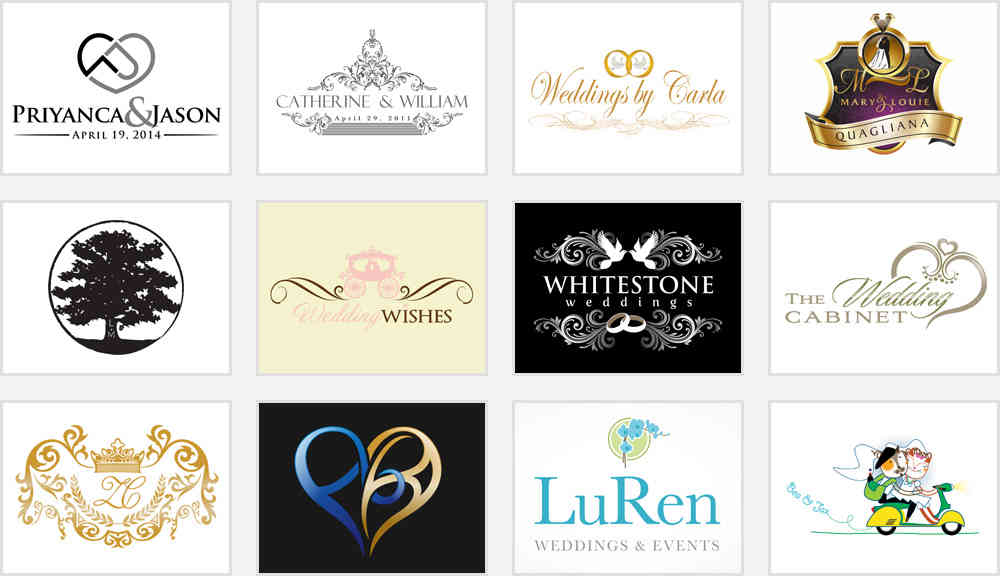5 Extremely Non Traditional Wedding Monograms Zillion Designs